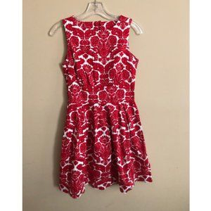 Modcloth Red/White Fit and Flare Dress - Sz 6 US